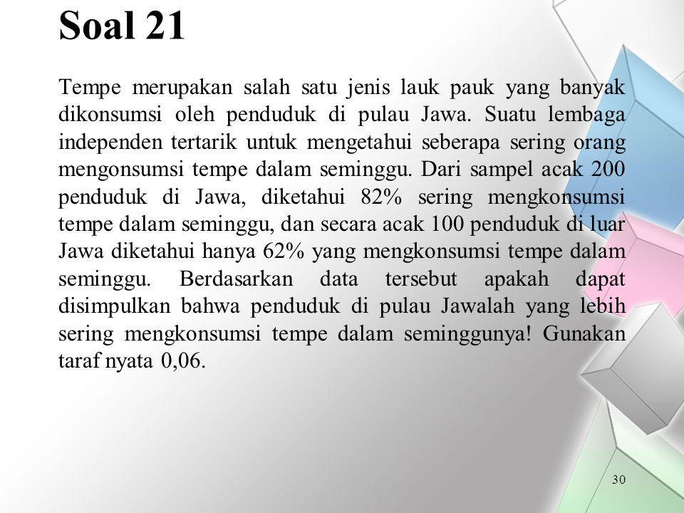 Soal 21