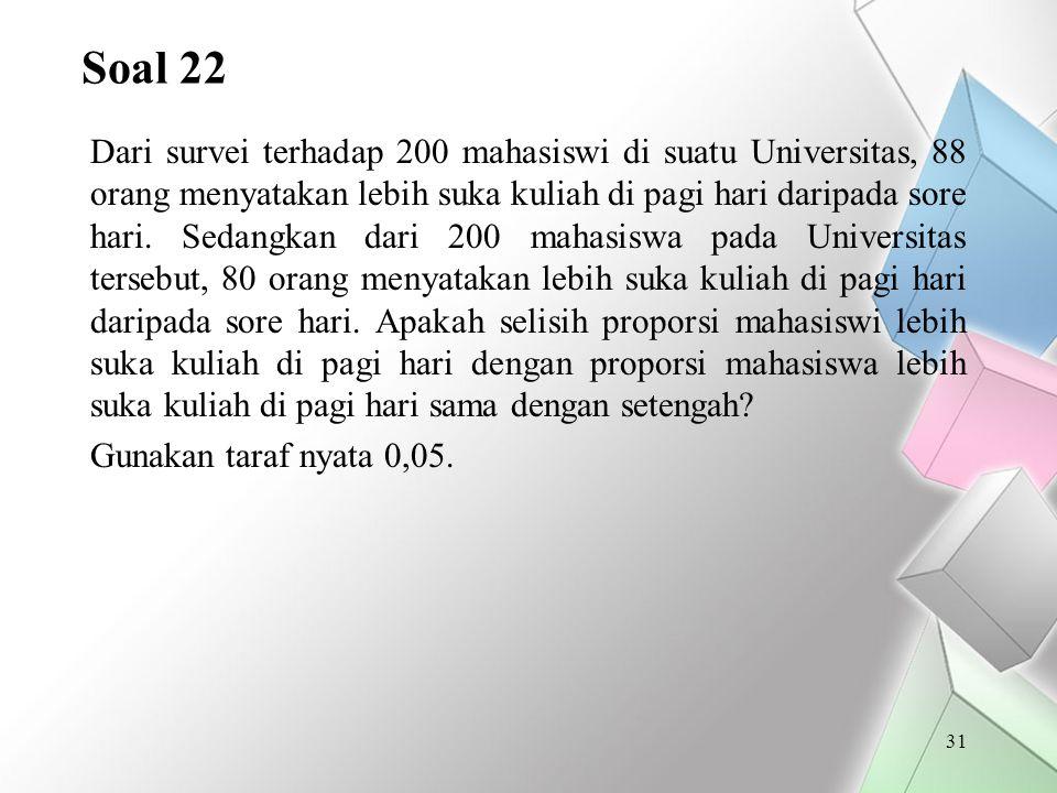 Soal 22