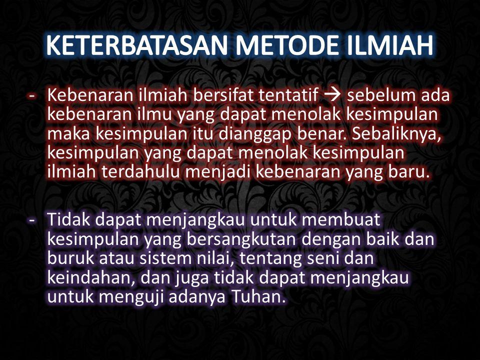 KETERBATASAN METODE ILMIAH