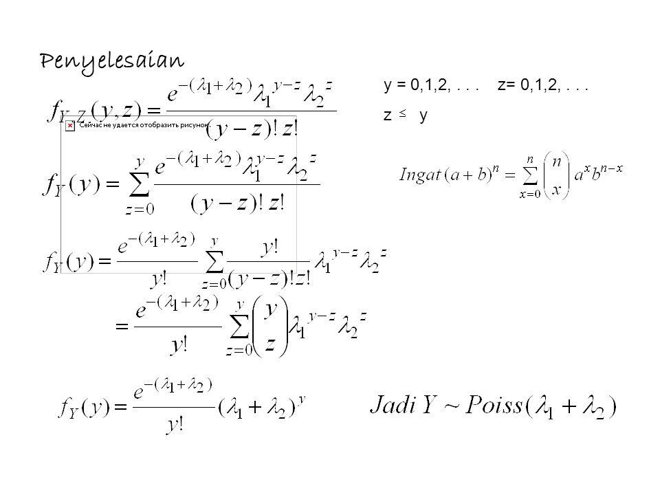 Penyelesaian y = 0,1,2, . . . z= 0,1,2, . . . z y