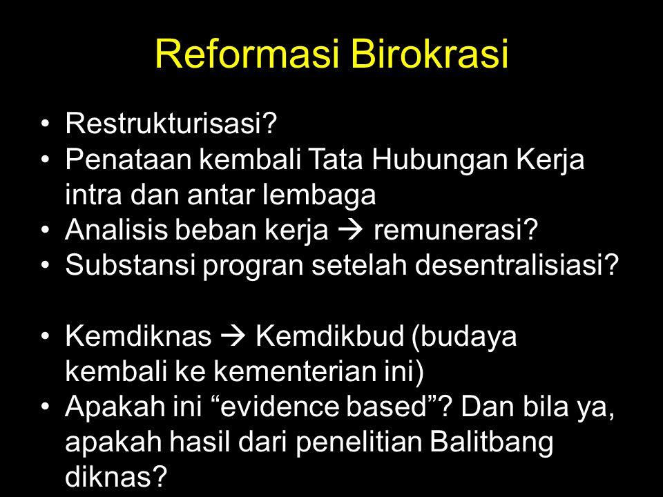 Reformasi Birokrasi Restrukturisasi