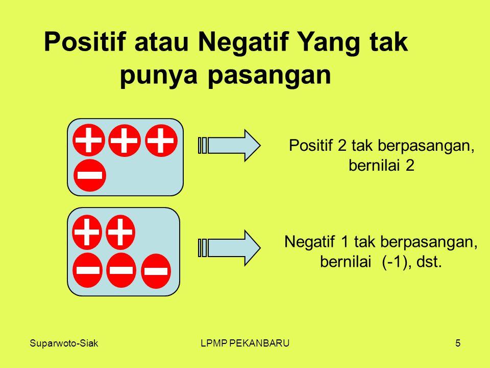 Positif atau Negatif Yang tak punya pasangan