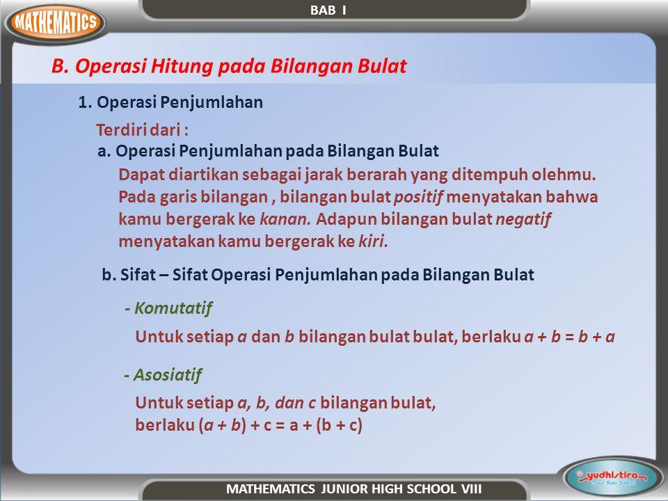 B. Operasi Hitung pada Bilangan Bulat
