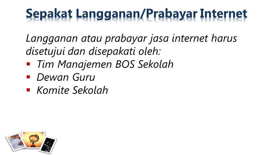 Sepakat Langganan/Prabayar Internet