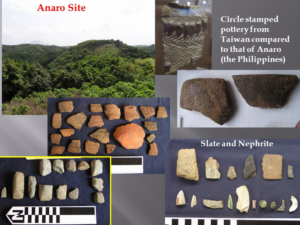 Anaro Site Circle stamped pottery from Taiwan compared to that of Anaro (the Philippines) Slate and Nephrite.