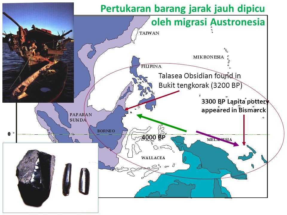 Pertukaran barang jarak jauh dipicu oleh migrasi Austronesia