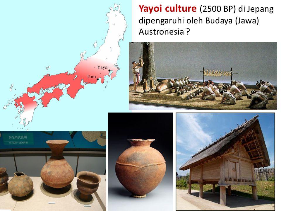 Yayoi culture (2500 BP) di Jepang dipengaruhi oleh Budaya (Jawa) Austronesia