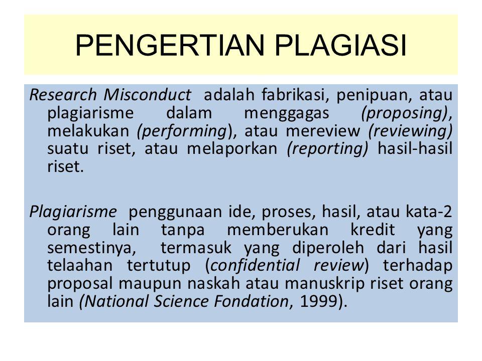 PENGERTIAN PLAGIASI