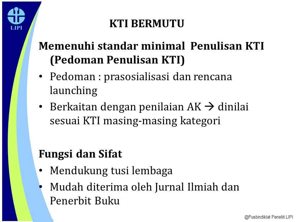 Memenuhi standar minimal Penulisan KTI (Pedoman Penulisan KTI)