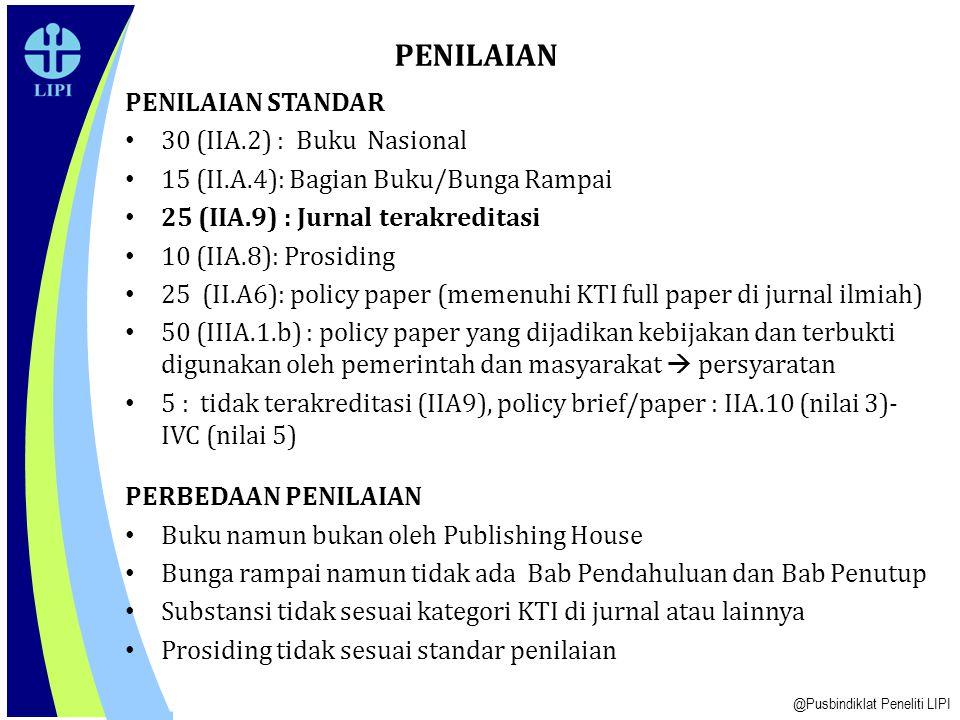 PENILAIAN PENILAIAN STANDAR 30 (IIA.2) : Buku Nasional