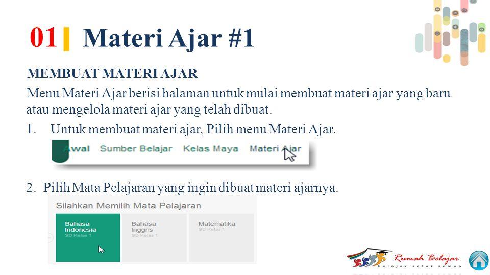 01| Materi Ajar #1 MEMBUAT MATERI AJAR