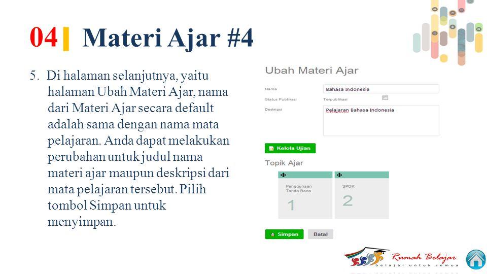 04| Materi Ajar #4
