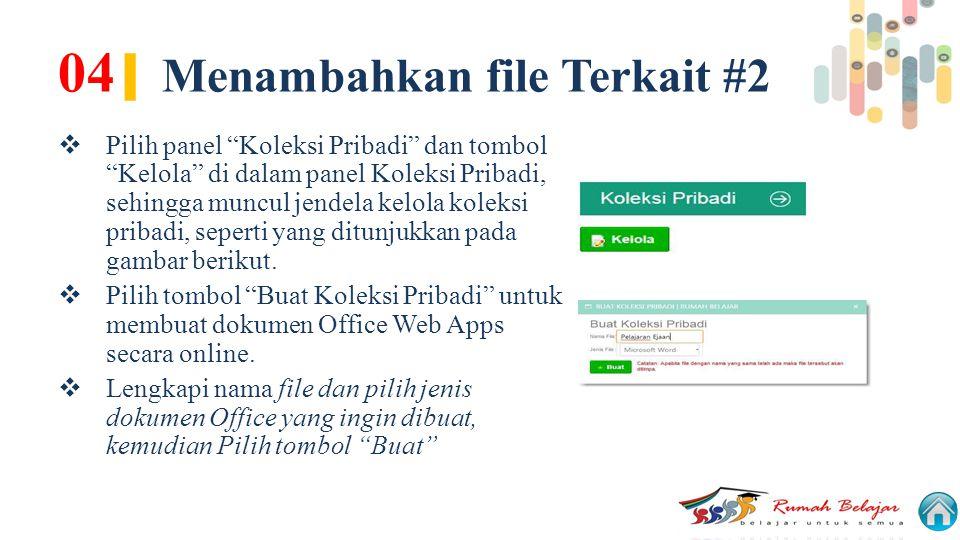 04| Menambahkan file Terkait #2