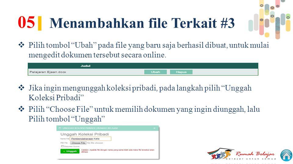 05| Menambahkan file Terkait #3