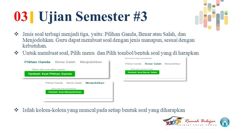 03| Ujian Semester #3