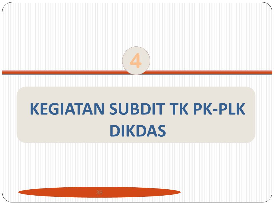 KEGIATAN SUBDIT TK PK-PLK DIKDAS