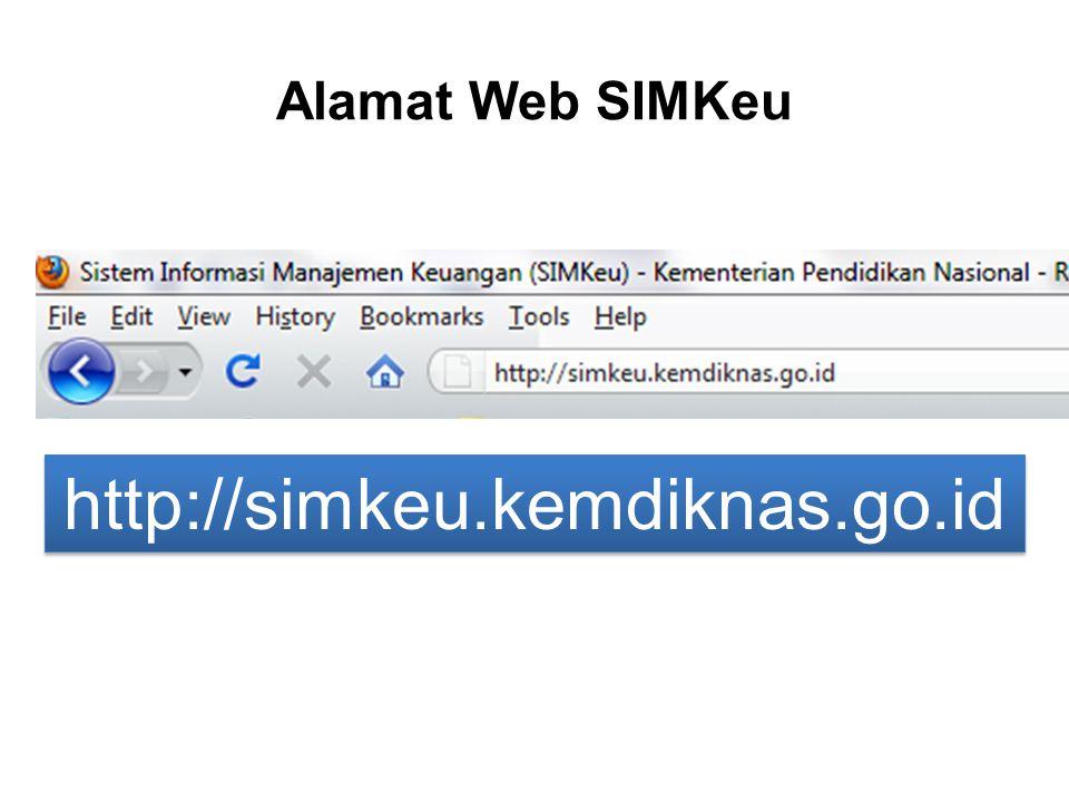 Alamat Web SIMKeu http://simkeu.kemdiknas.go.id