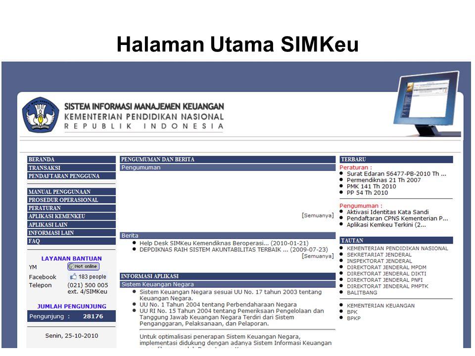 Halaman Utama SIMKeu
