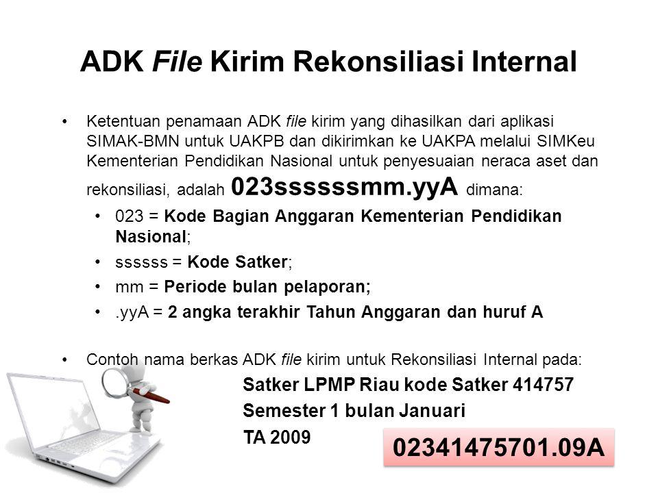 ADK File Kirim Rekonsiliasi Internal
