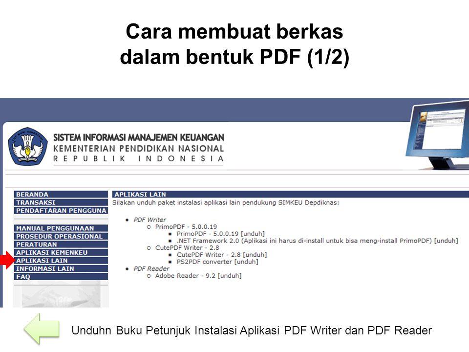 Cara membuat berkas dalam bentuk PDF (1/2)