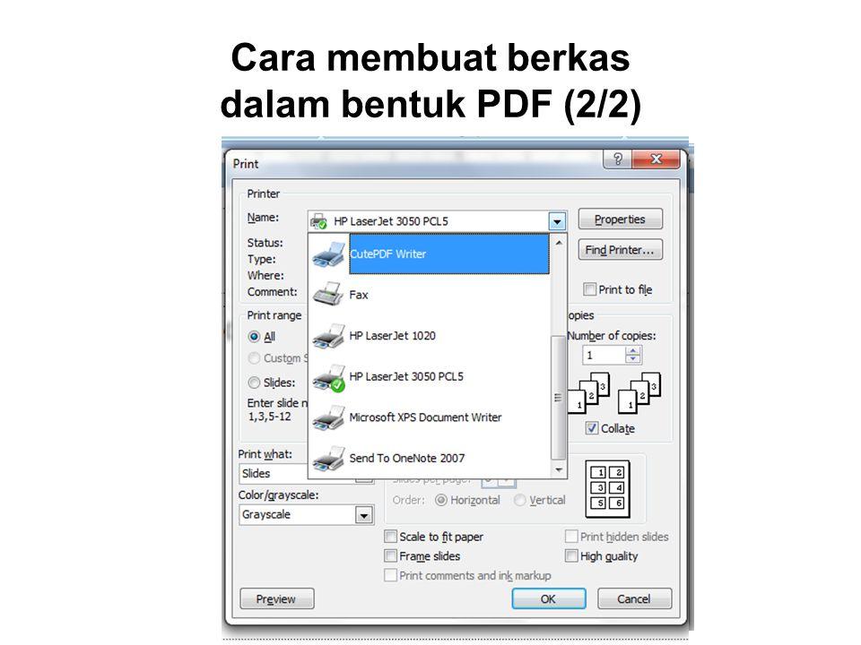 Cara membuat berkas dalam bentuk PDF (2/2)