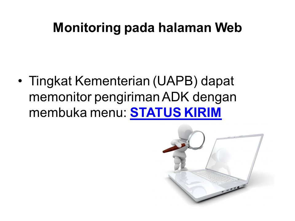 Monitoring pada halaman Web