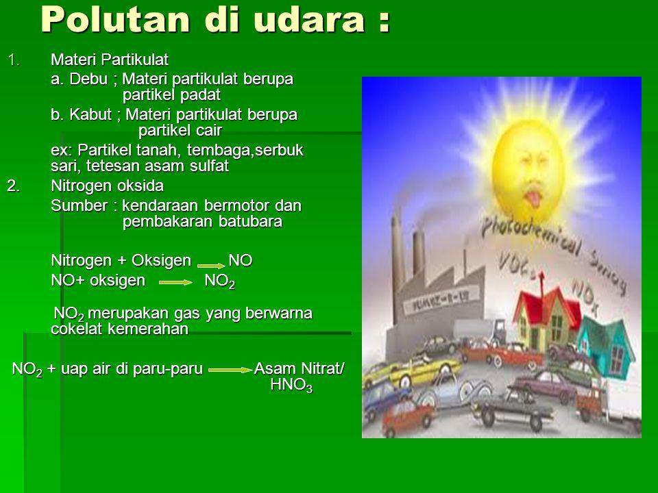 Polutan di udara : Materi Partikulat