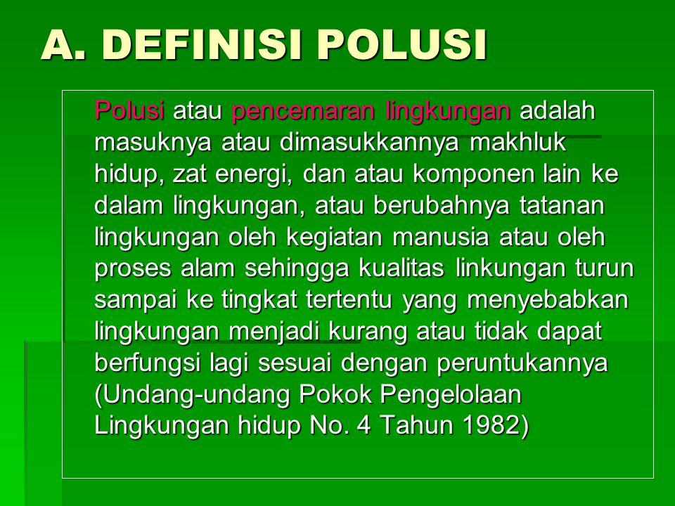 A. DEFINISI POLUSI