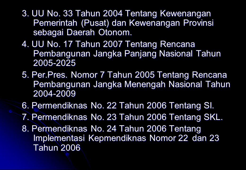 3. UU No. 33 Tahun 2004 Tentang Kewenangan