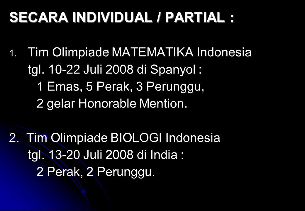 SECARA INDIVIDUAL / PARTIAL :