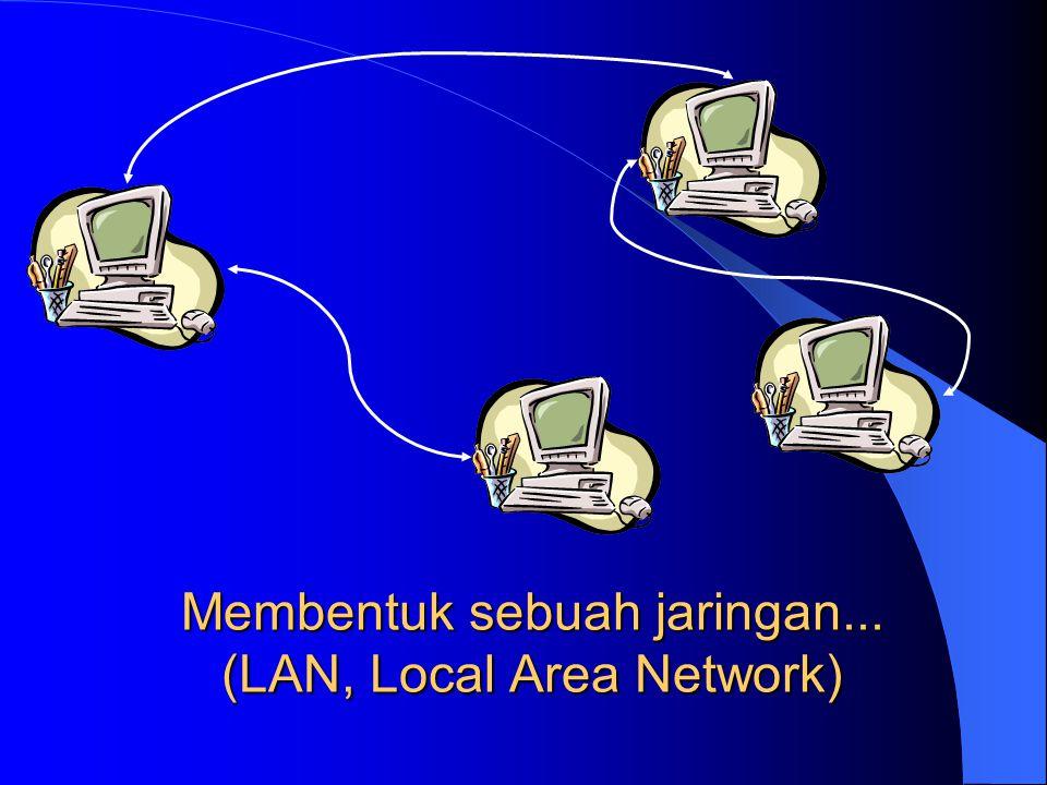 Membentuk sebuah jaringan... (LAN, Local Area Network)
