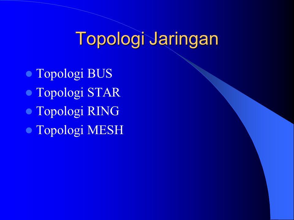 Topologi Jaringan Topologi BUS Topologi STAR Topologi RING