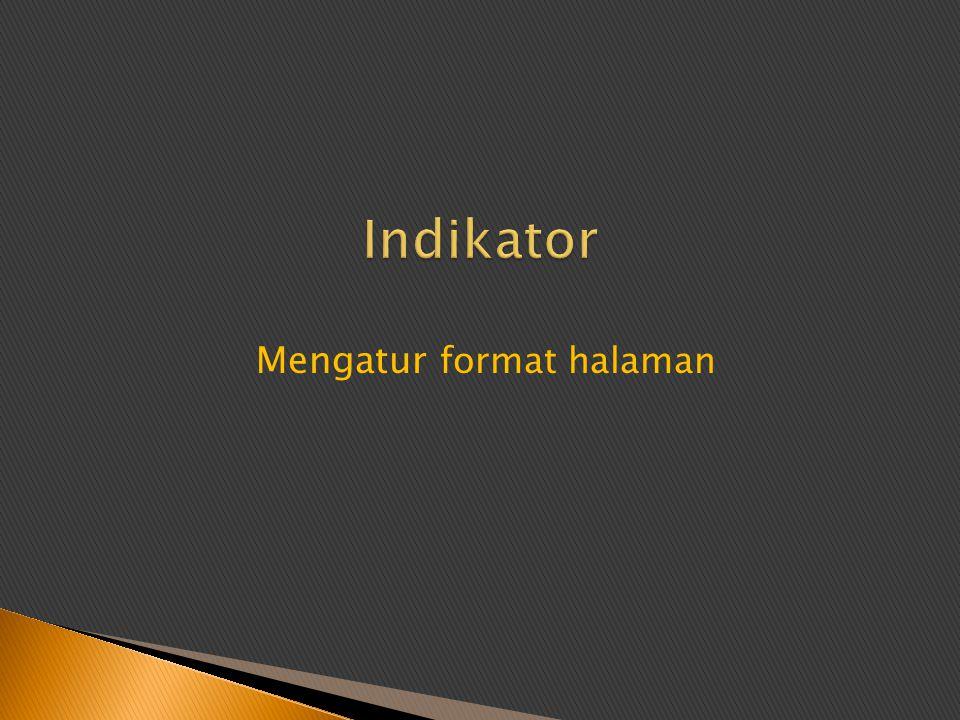 Mengatur format halaman