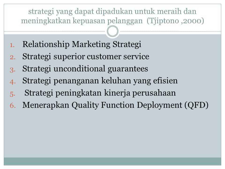 Relationship Marketing Strategi Strategi superior customer service