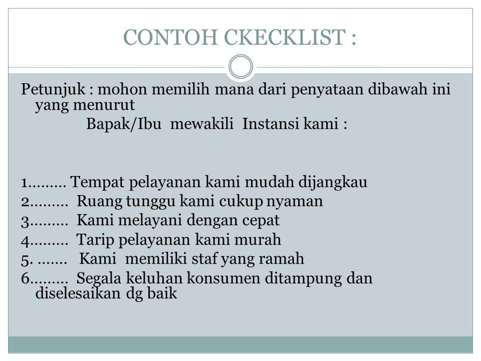 CONTOH CKECKLIST :