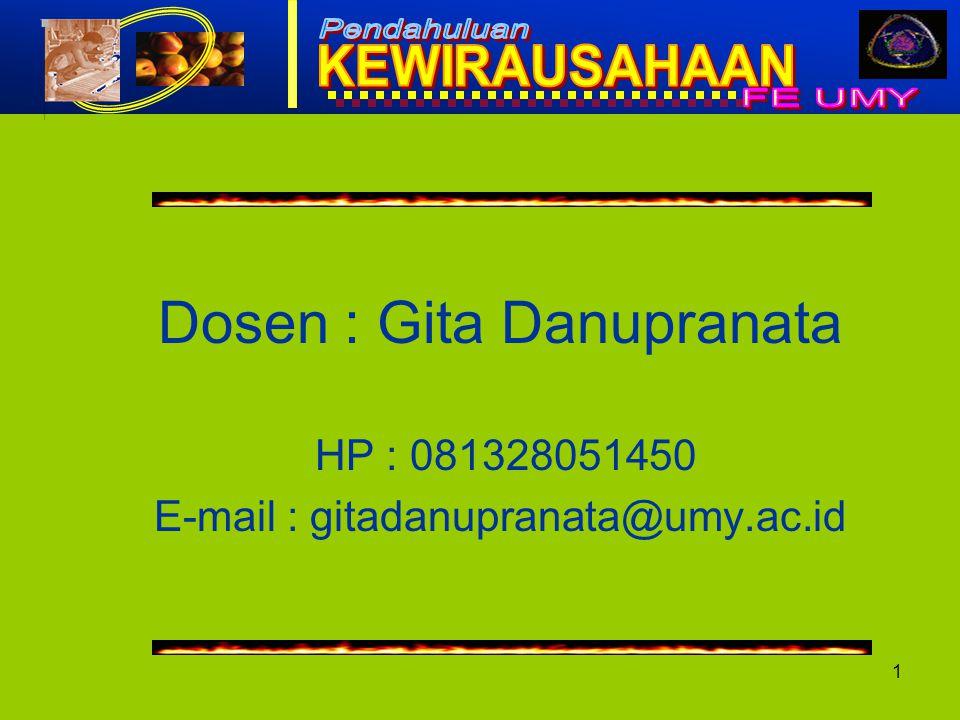 Dosen : Gita Danupranata