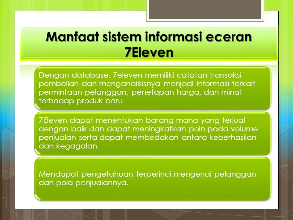 Manfaat sistem informasi eceran 7Eleven