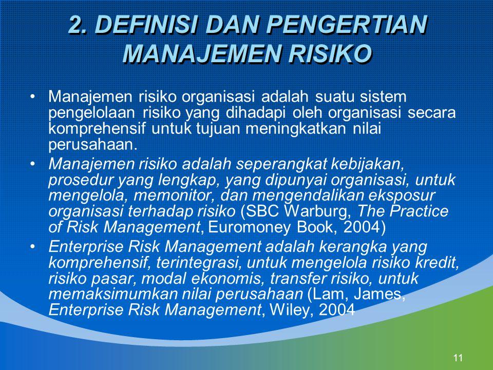 2. DEFINISI DAN PENGERTIAN MANAJEMEN RISIKO