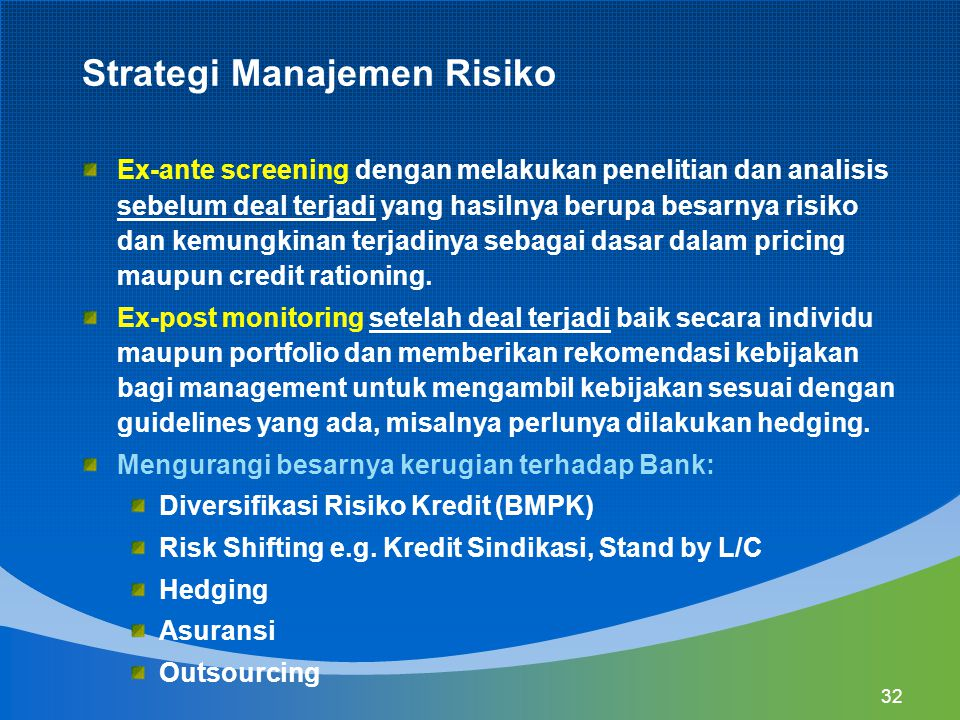 Strategi Manajemen Risiko