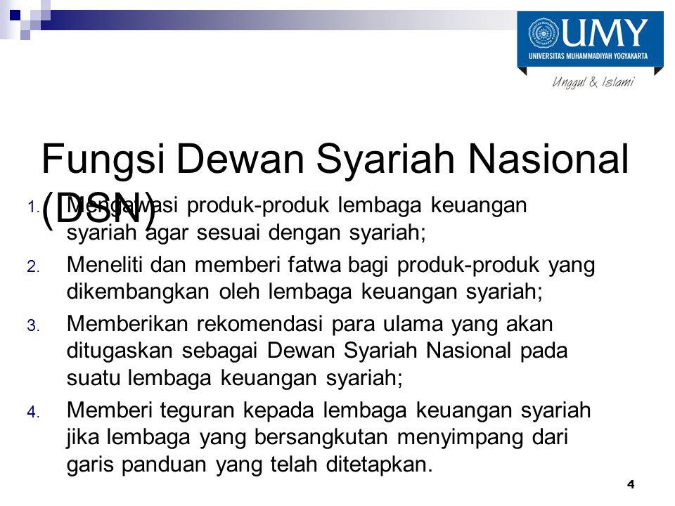 Fungsi Dewan Syariah Nasional (DSN)
