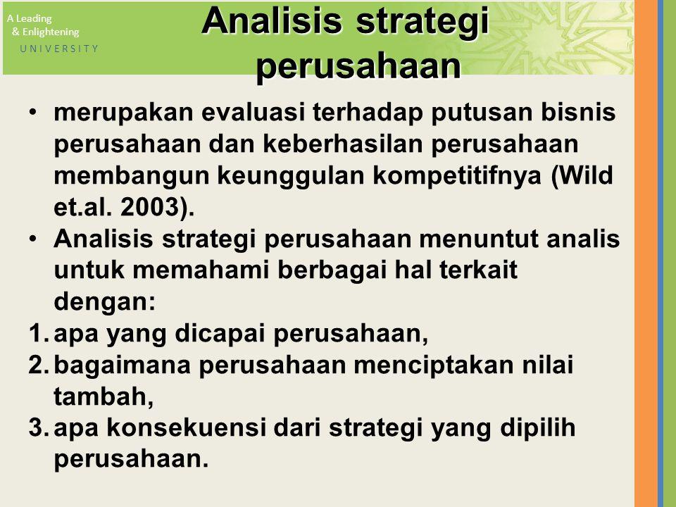 Analisis strategi perusahaan