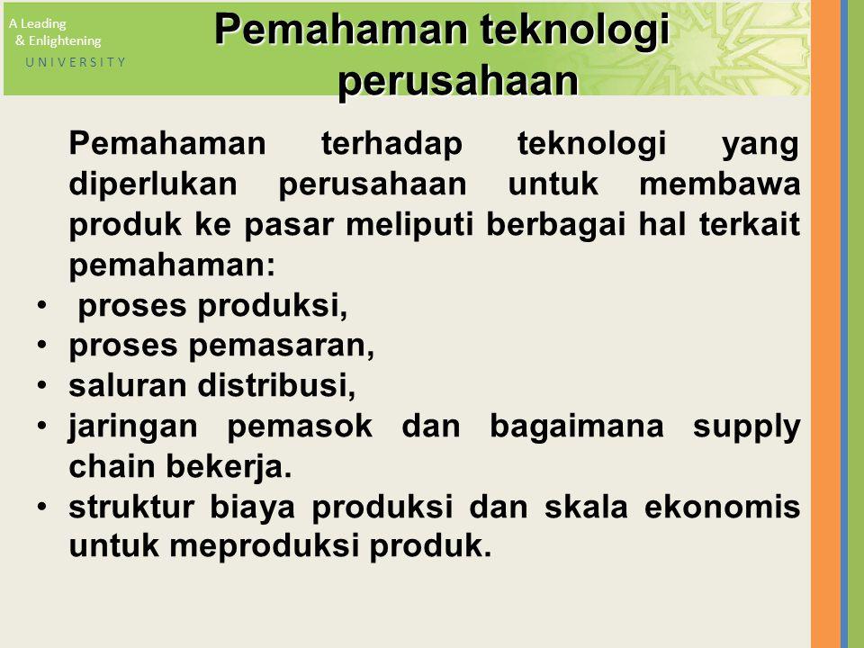 Pemahaman teknologi perusahaan