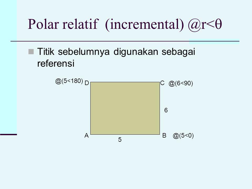 Polar relatif (incremental) @r<