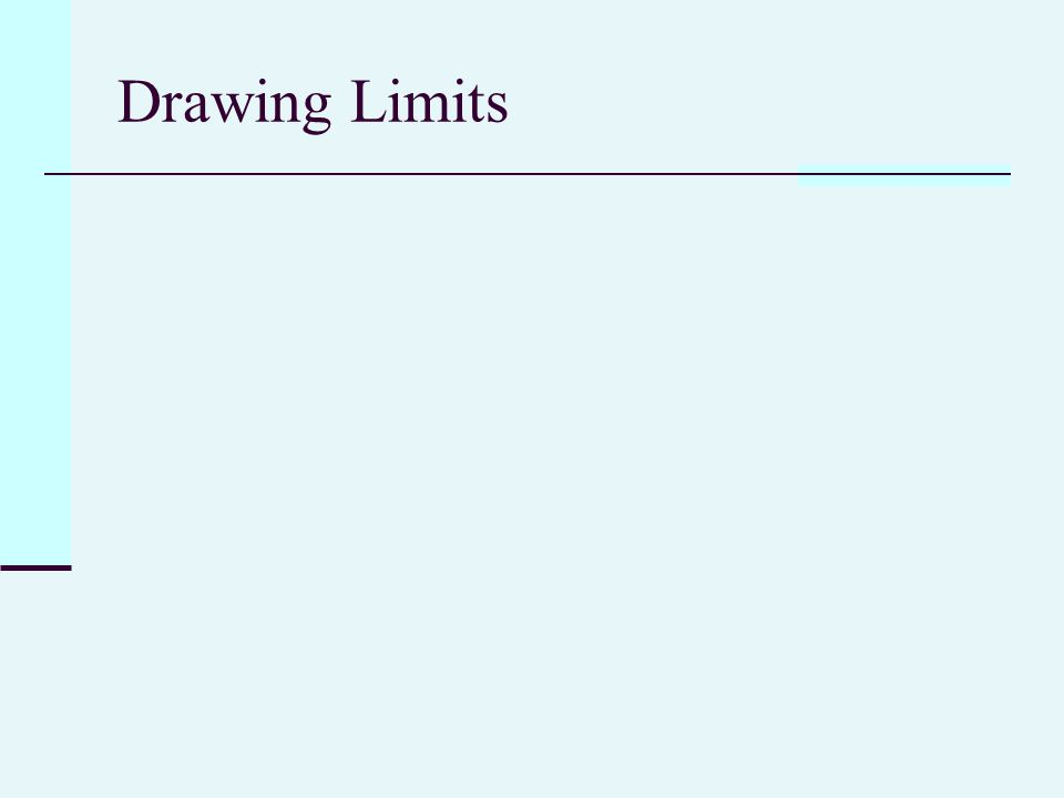 Drawing Limits