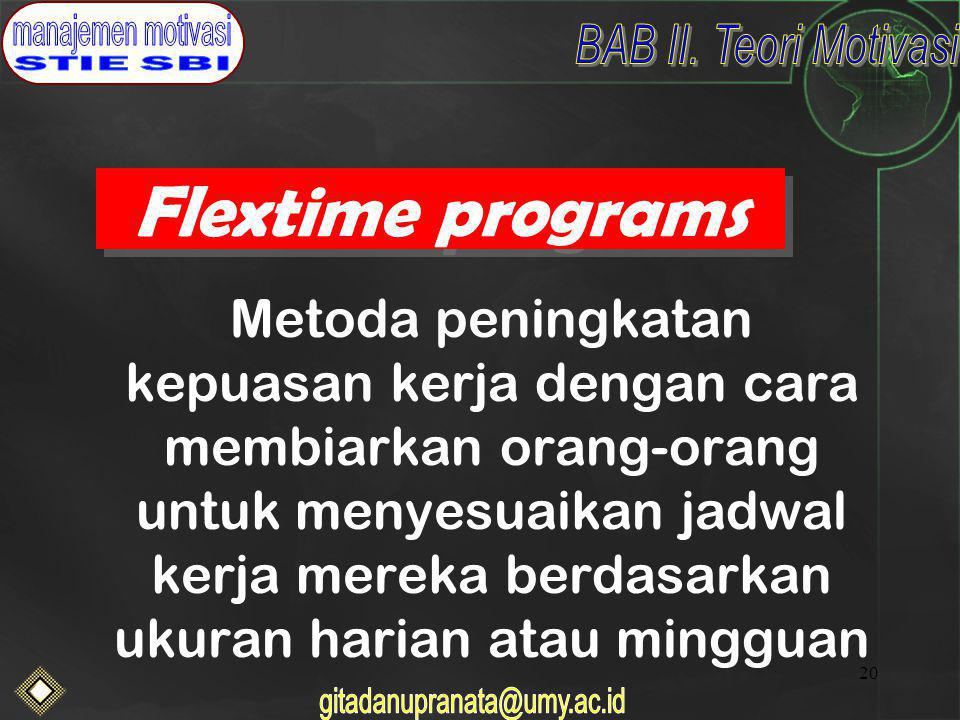 Flextime programs