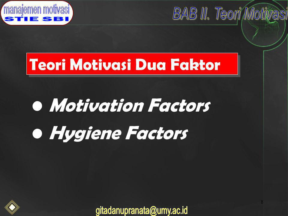 Teori Motivasi Dua Faktor