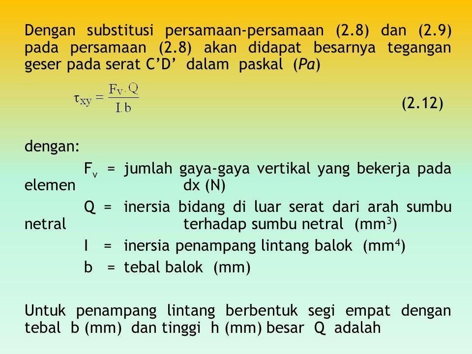 Dengan substitusi persamaan-persamaan (2. 8) dan (2