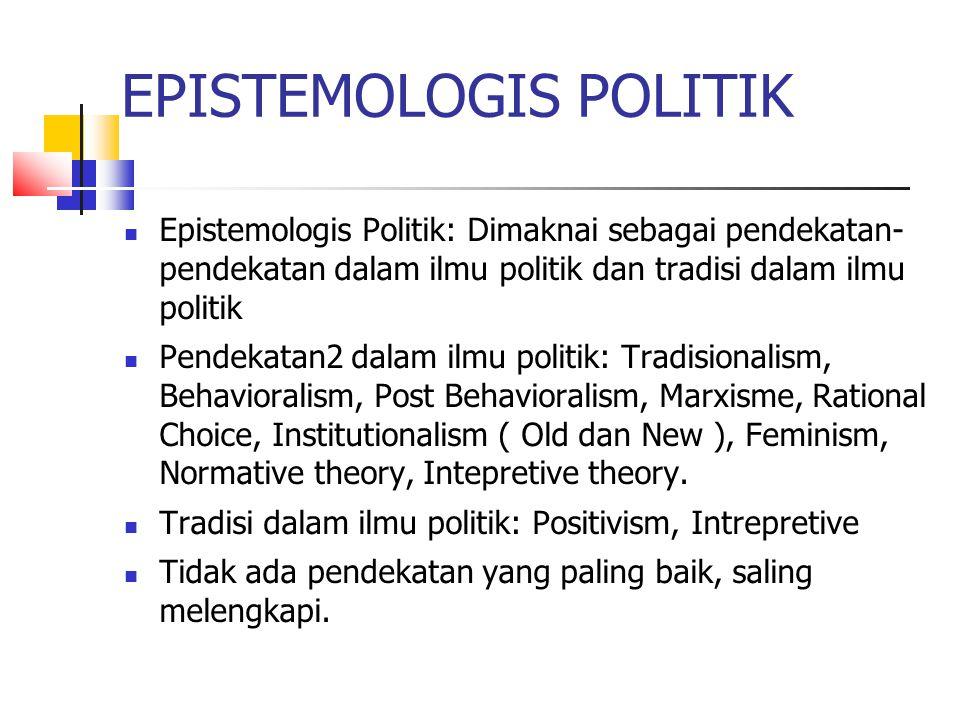 EPISTEMOLOGIS POLITIK