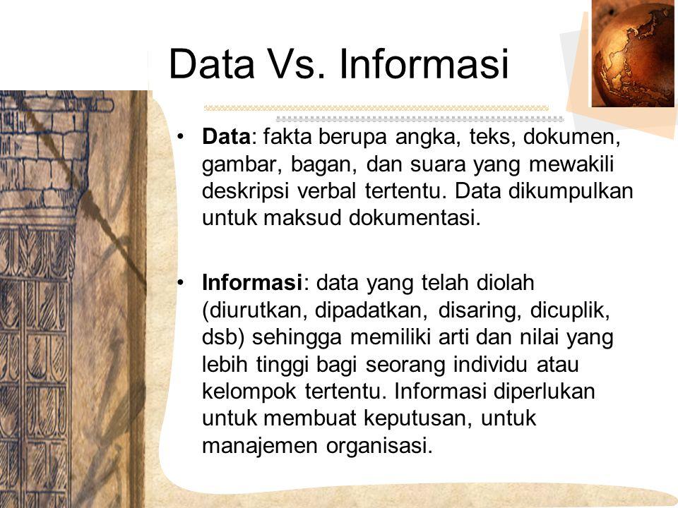 Data Vs. Informasi