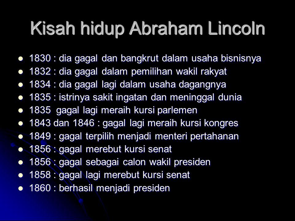 Kisah hidup Abraham Lincoln